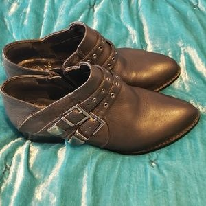 Vince Camuto Cosmika Black Leather Booties S 7 1/2